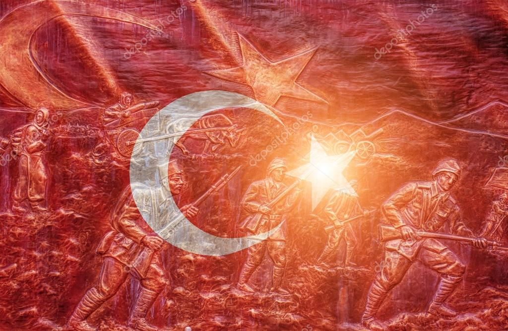 Great shiny  Turkish flag
