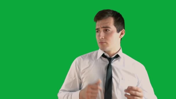 man dancing on a green screen