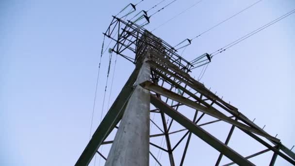 Abstract geometric shape of electric tower pyramid. High voltage power line structure