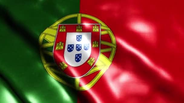 Portugália zászlós videója. 3D Portugália zászló Slow Motion videó.