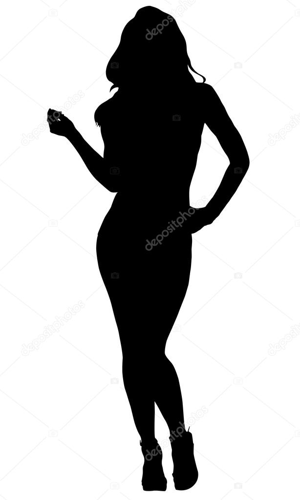 Tempting Sexy lady silhouette images