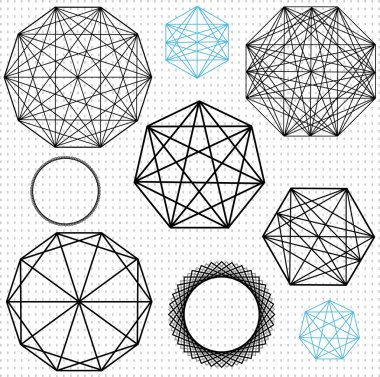 Geometric polygon designs