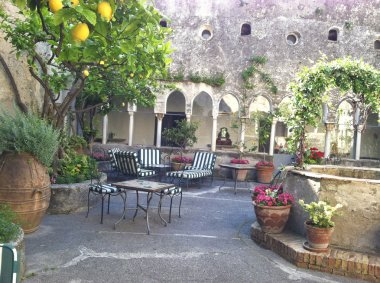 Italian Courtyard near the Ocean