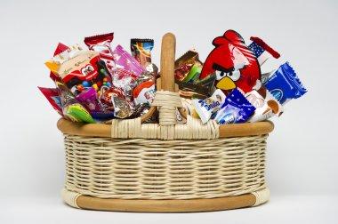 Candies in basket