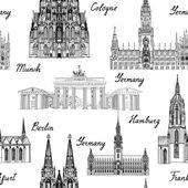 Fotografie Berühmte deutsche Bauwerke und Wahrzeichen