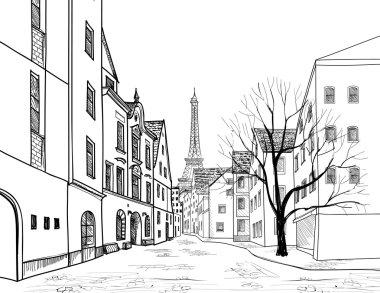 Medieval european city landscape
