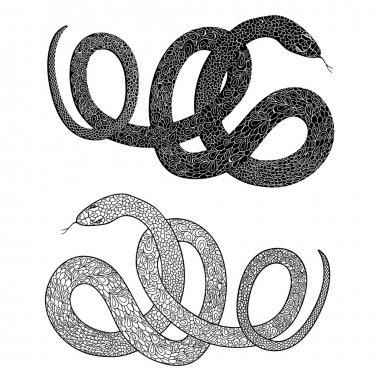 ornamental decorated snakes