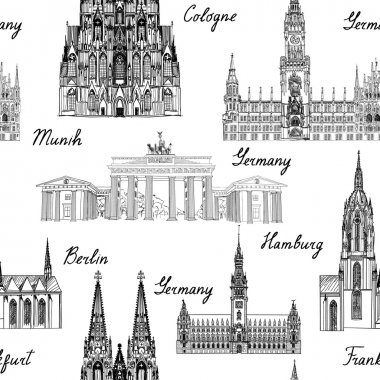 Famous german buildings and landmarks