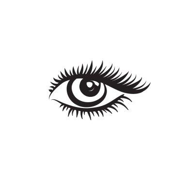 Eye design in minimalistic graphic style.