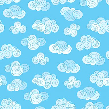 Cloudy sky seamless backround