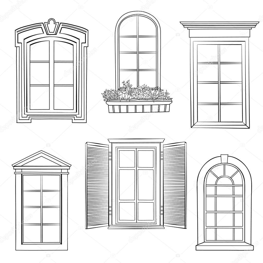Windows doodle kroki — Stok Vektör © YokoDesign #112463078