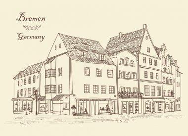 "Картина, постер, плакат, фотообои ""улица со зданиями в старом европейском городе "", артикул 113282046"