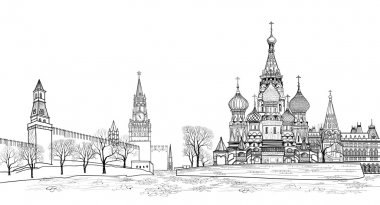 Red square view,