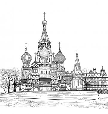 St Basil cathedral view, Moscow