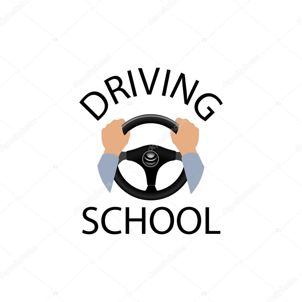Driving School Car Logo