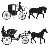 Carriage with horse.