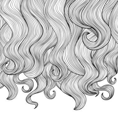 Beautiful curly hair border