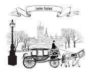 Fotografie London Stadt retro Logo