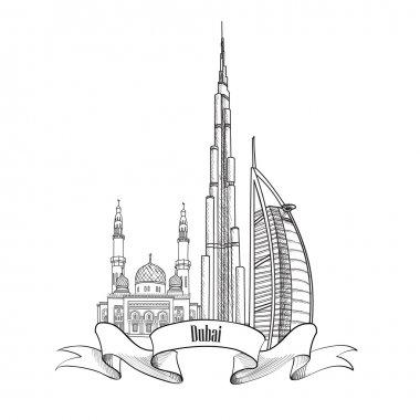 Dubai city label.