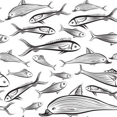 Fish seamless pattern.