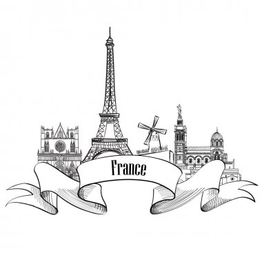 Famous french architectural landmarks