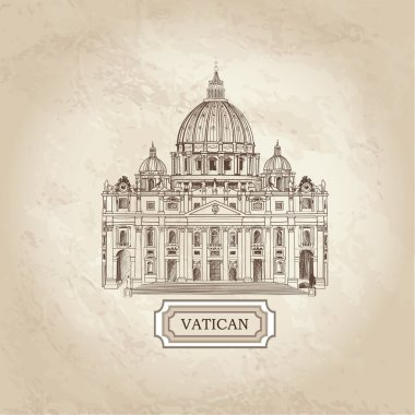 Vatican old paper textured background