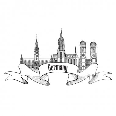Travel German cities symbol