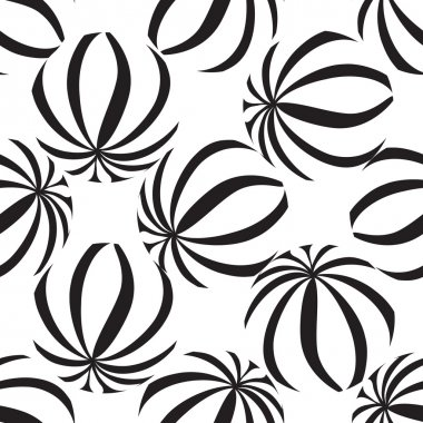 Abastract striped balls seamless pattern