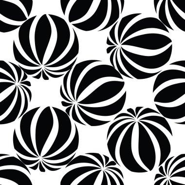 Abastract striped balls seamless pattern