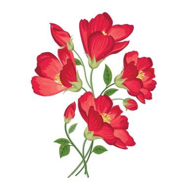 Flower bouquet. Floral frame.