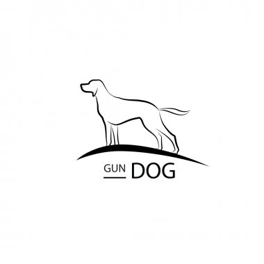 Dog symbol. Pet logo design.