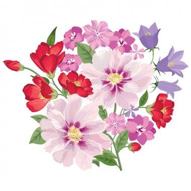 Flower bouquet. Floral frame