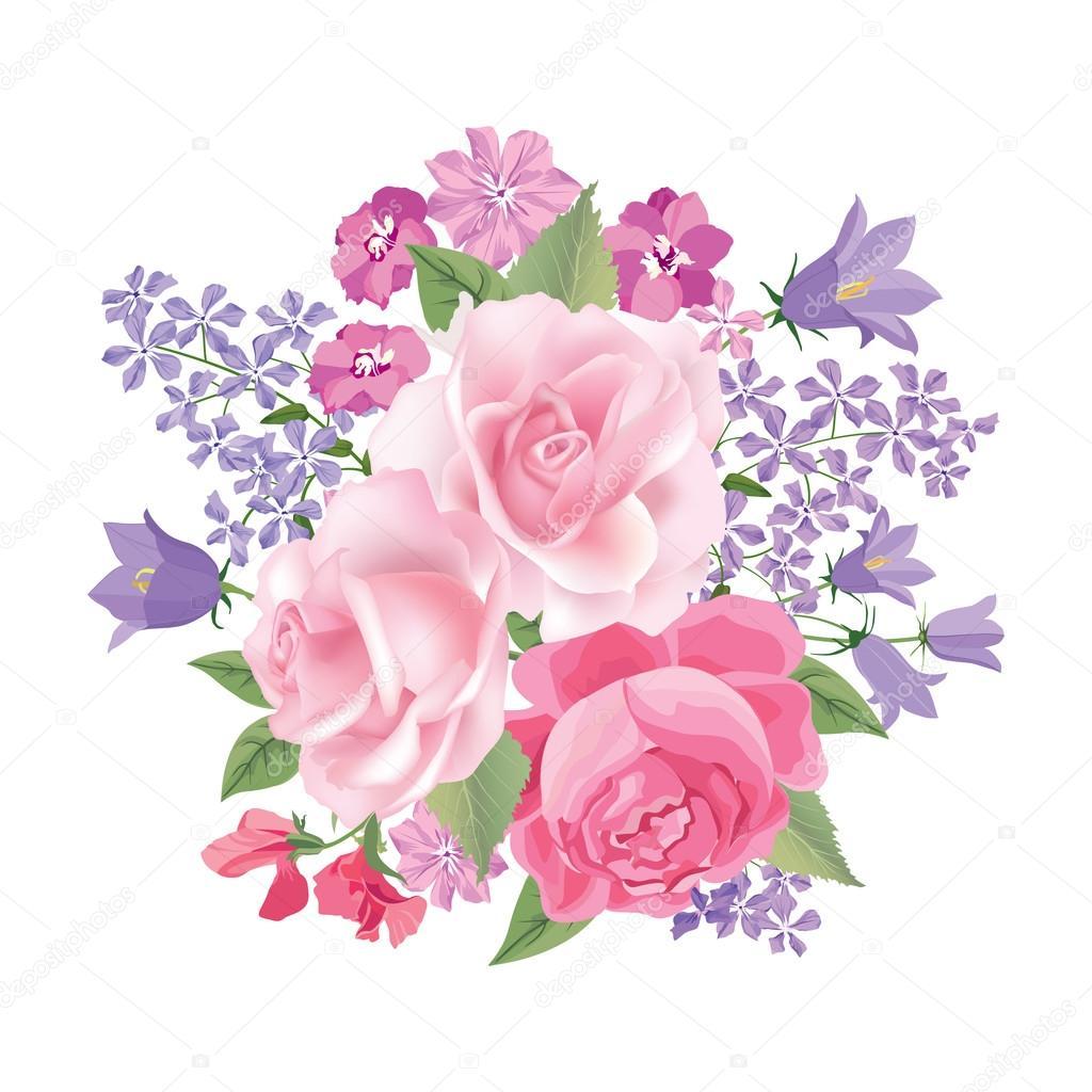 Vector Bouquet Png Ramo De Flores Marco Floral Vector De Stock