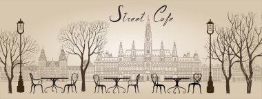 Street cafe in old town