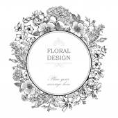 Fotografie Floral frame with summer flowers.