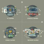 Photo PC gaming, console gaming, mobile gaming, browser gaming