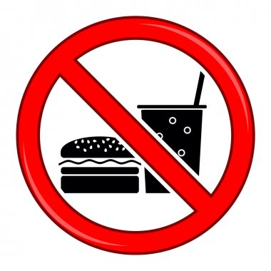No Food Allowed Symbol. Prohibition Sign