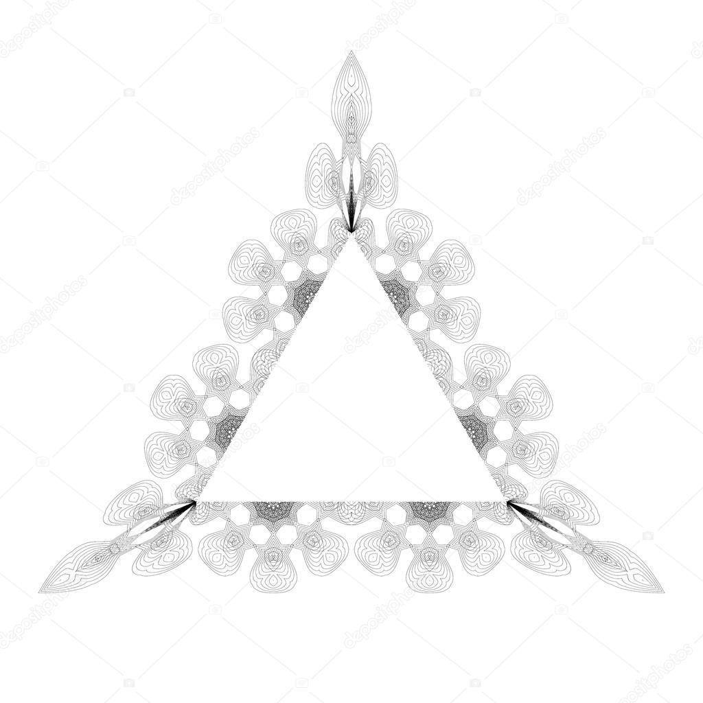 Marco triangulo vintage — Archivo Imágenes Vectoriales © valeo6 ...