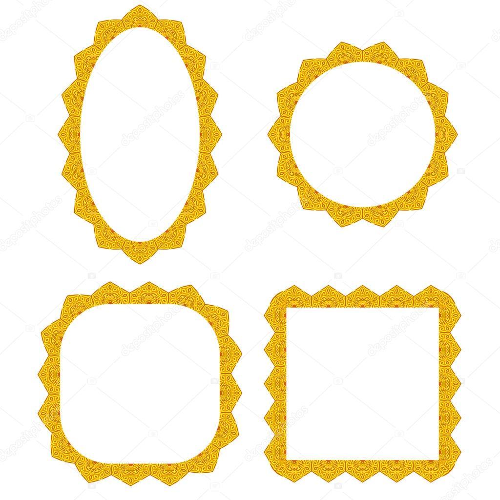 Conjunto de diferentes marcos amarillos — Vector de stock © valeo6 ...