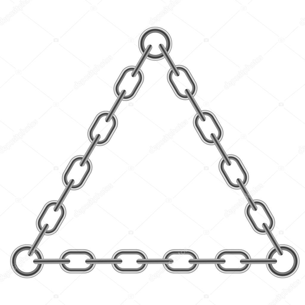 Cadena triángulo marco — Foto de stock © valeo6 #121120520