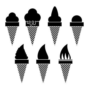 Sweet Ice Cream Icon Isolated on White Background. icon