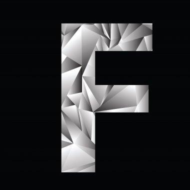 crystal letter  F