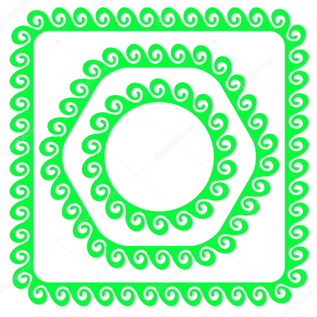 Marcos verdes — Vector de stock © valeo6 #81369330