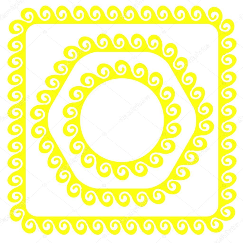 marcos amarillos — Vector de stock © valeo6 #81384980