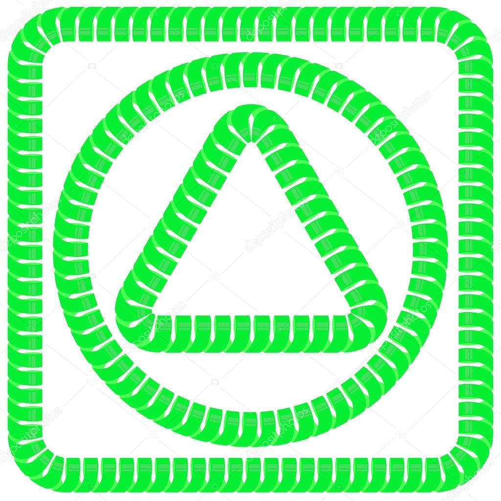 Marcos verdes — Archivo Imágenes Vectoriales © valeo6 #81586364