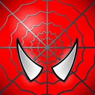Superhero Red  Icon. Mask Large Eyed  Superhero. Symbol of Hero