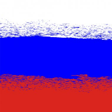 Flag of Russia. Grunge Russian Background