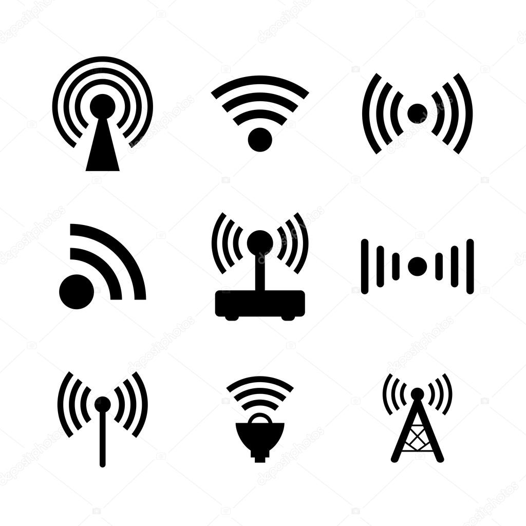 Wireless Icon set — Stock Vector © Tzubasaz #99580122