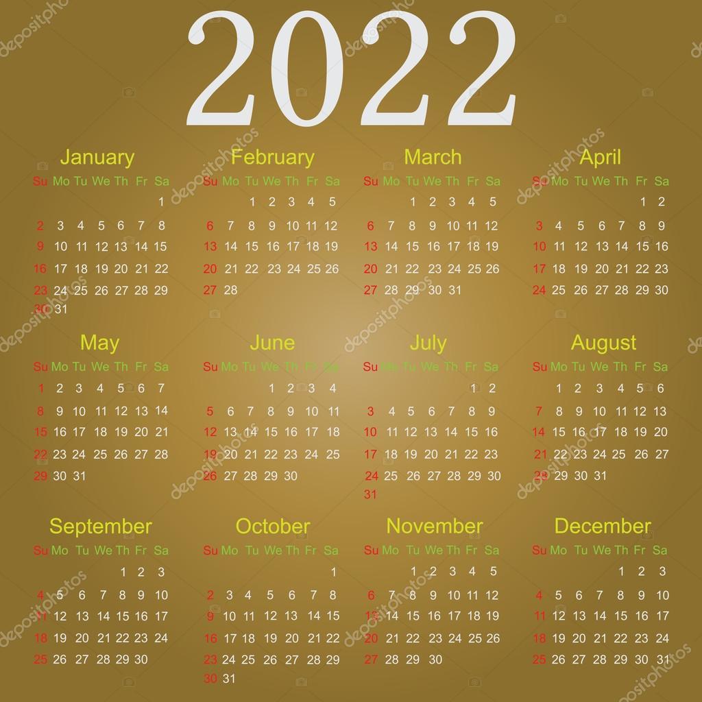 Ucsd Calendar 2022 2023.The Calendar 2022 Vector Image By C Lappenno2 Vector Stock 89527876