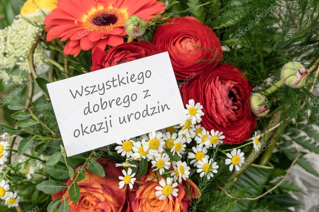grattis på födelsedagen polska Polska födelsedagskort — Stockfotografi © coramueller #114259504 grattis på födelsedagen polska